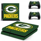 Green bay packers decal skin sticker for PS4 console and controllers