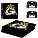 Green bay packers gloves decal skin sticker for PS4 console and controllers