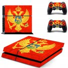 Flag of Montenegro decal skin sticker for PS4 console and controllers