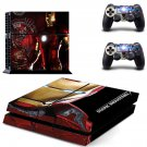 Ironman stark decal skin sticker for PS4 console and controllers