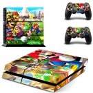Super Mario decal skin sticker for PS4 console and controllers