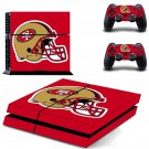 San Francisco 49ers decal skin sticker for PS4 console and controllers