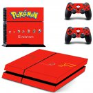 Pokemon evolution decal skin sticker for PS4 console and controllers