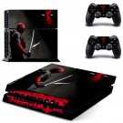 Deadpool decal skin sticker for PS4 console and controllers