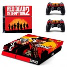 Red Dead Redemption 2 decal skin sticker for PS4 console and controllers