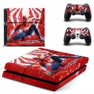 Spiderman decal skin sticker for PS4 console and controllers