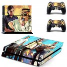 Grand theft Auto 5 decal skin sticker for PS4 console and controllers