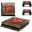 Arsenal decal skin sticker for PS4 console and controllers