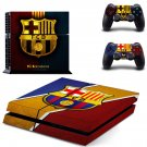 Barcelona FC decal skin sticker for PS4 console and controllers