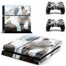 White Lion decal skin sticker for PS4 console and controllers