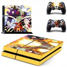 Naruto decal skin sticker for PS4 console and controllers