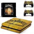 Jack daniels whisky decal skin sticker for PS4 console and controllers