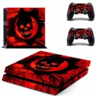Gears of War 3 decal skin sticker for PS4 console and controllers