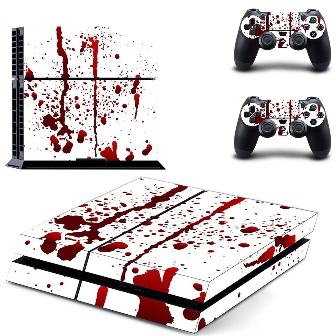 Blood Drops decal skin sticker for PS4 console and controllers