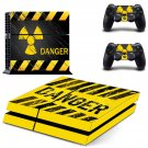 Radioactive Danger decal skin sticker for PS4 console and controllers