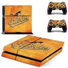 Baltimore Orioles decal skin sticker for PS4 console and controllers