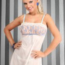 Luxurious Ivory Tulle Chemise With Thongs