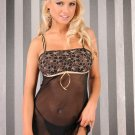 Beautiful Black - Gold Chemise