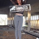 Amazing Striped Black-White Leggings