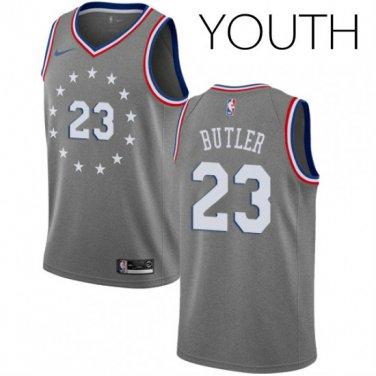 watch 4930e ad720 Youth Nike Philadelphia 76ers #23 Jimmy Butler Swingman Gray ...