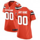 Women's Cleveland Browns Orange Custom Game Jersey