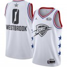 Men's 2019 NBA All Star Russell Westbrook #0 Basketball Jersey White New
