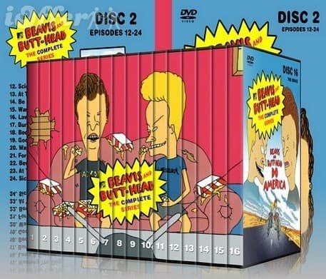 Beavis and Butt-Head Complete Uncut Series King Turd Butthead DVD Set