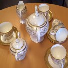 Bone China Tea Set 17 Pieces, 22k Gold Plated, Excellent Quality