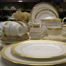 Bone china 95 Pieces Dinner Set Tableware sets 22k Gold Plated, Excellent Quality