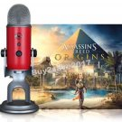 BLUE MICROPHONES Blackout Yeti w/ Headphones, Stand, Assassin's Creed Origins
