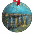 Vincent Van Gogh Art Starry Night Over the Rhone Porcelain Ornaments