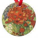 Vincent Van Gogh Art Vase of Poppies Porcelain Ornaments