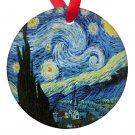 Vincent Van Gogh Art Starry Night Porcelain Ornaments