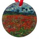 Vincent Van Gogh Art Field of Poppies Porcelain Ornaments
