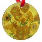 Vincent Van Gogh Art Sunflowers Porcelain Ornaments