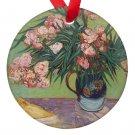 Vincent Van Gogh Art Vase of Roses Porcelain Ornaments