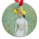 Vincent Van Gogh Art Woman in White Porcelain Ornaments