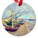 Vincent Van Gogh Art Boats Porcelain Ornaments