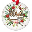 Alice in Wonderland Tea Party Single Sided Porcelain Ornaments