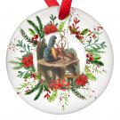 Alice in Wonderland Alice and the Caterpillar Single Sided Porcelain Ornaments