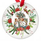 Alice in Wonderland Deck of Cards Single Sided Porcelain Ornaments
