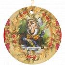 Alice in Wonderland Mad Hatter Single Sided Porcelain Ornaments