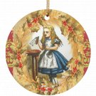 Alice in Wonderland Alice Drink Me  Single Sided Porcelain Ornaments