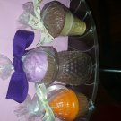 3 beautiful candles handmade by me