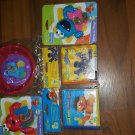 5pc baby gift box cute items inside including sesame Street bowls and rattles