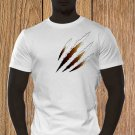 Claw Marks T-shirt, Black Scratches T-shirt, Wolverine, Animal Scratches, Torn T-shirt
