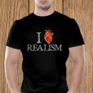 Love Realism T-shirt, Heart, Sarcasm, Funny (d)