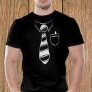 Tie T-shirt, Funny T-shirt, Formal Costume T-shirt, Serious T-shirt (b)
