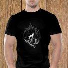 Wolf T-shirt, Wild T-shirt, Cliff T-shirt, Nature T-shirt, Night, Dark T-shirt (a)