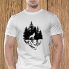 Wolf T-shirt, Wild T-shirt, Cliff T-shirt, Nature T-shirt, Night, Dark T-shirt (b)